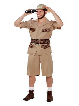 disfraz de explorador safari hombre