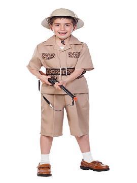 disfraz de explorador safari niño