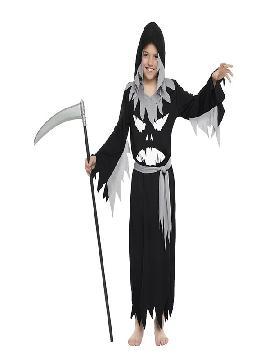 disfraz de fantasma negro niño