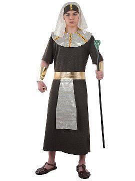 disfraz de faraon egipcio hombre adulto. Entrarás en egipto para ser el todopoderoso de las tierrass del Nilo. Las fiestas de tematicas y carnaval conquistaras a todas las cleopatras. Este disfraz es ideal para tus fiestas temáticas de disfraces romanos y egipcios para adulto.