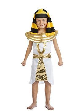 disfraz de faraon egipcio para niño infantil. Prepárate para la Fiesta faronas más divertida en carnaval y fiestas temanticas.Este disfraz es ideal para tus fiestas temáticas de disfraces romanos y egipcios para grupos y familias.