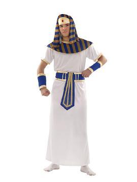 disfraz de faraon hombre. Prepárate para salir de casa acompañando a la faraona egipcia nefertiti en carnavales. Este disfraz es ideal para tus fiestas temáticas de disfraces romanos y egipcios pareja o familia