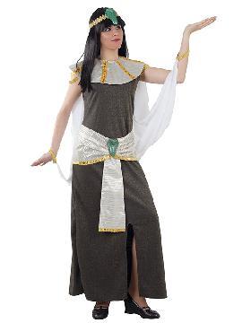 disfraz de faraona egipcia mujer adulto. Presume de elegancia y estilo frente al faraón con este traje de cleopatra. Rodéate de esclavos que te ayuden a estar siempre perfecta para tus fiestas temáticas y carnaval. Este disfraz es ideal para tus fiestas temáticas de disfraces romanos y egipcios para mujer adultos.