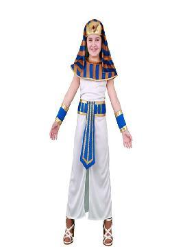 disfraz de faraona para niña infantil. Prepárate para la Fiesta Romana más divertida en carnaval y fiestas temanticas.Este disfraz es ideal para tus fiestas temáticas de disfraces romanos y egipcios para niña infantiles.