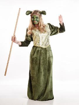 disfraz de fiona verde para mujer