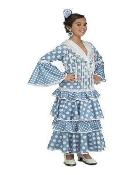 disfraz de flamenca de huelva azul niña