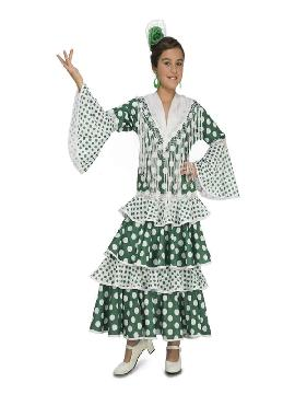 disfraz de flamenca feria verde niña