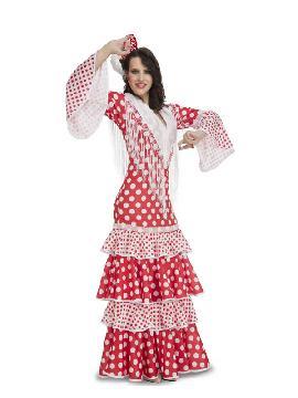 disfraz de flamenca rocio rojo mujer