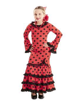 disfraz de flamenca roja lunares niña