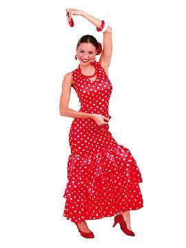 disfraz de flamenca rojo topos blancos mujer