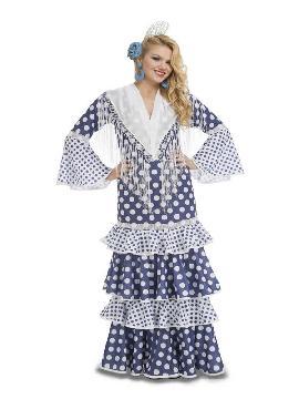 disfraz de flamenca solea azul mujer