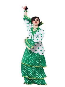 disfraz de flamenca verde para mujer
