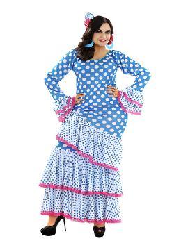 disfraz de flamenca zambra mujer. Con tu cuerpo moreno podrás bailar al ritmo de las palmas en las fiestas de carnaval, en la feria de abril, despedidas de soltera o cualquier fiesta flamenca. Este disfraz es ideal para tus fiestas temáticas de disfraces de sevillana,flamencas y andaluzas adultos.