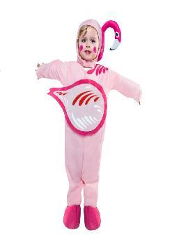 disfraz de flamenco rosa niña