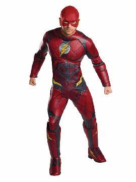 disfraz de flash la liga de la justicia deluxe hombre
