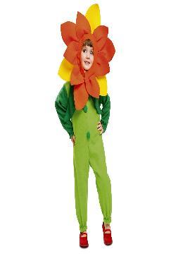 disfraz de flor para niña infantil. Compra tu disfraz barato y es especiales para poder realizar un centro de flores tan bonitas como ésta. También este disfraz es perfecto para las fiestas de fin de curso u obras de teatro infantiles.