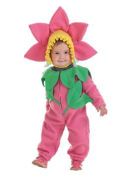 disfraz de flor rosa para bebe