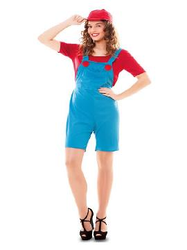 disfraz de fontanera roja para mujer