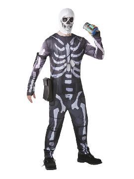 disfraz de fortnite skull trooper para hombre