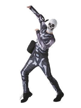 disfraz de fortnite skull trooper para nino y adolescente