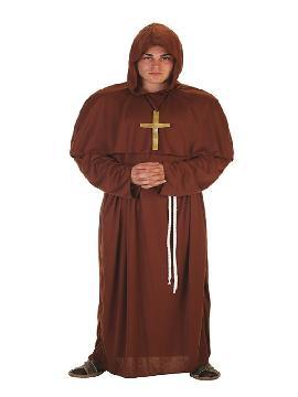 disfraz de fraile franciscano para hombre