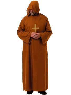Disfraz de fraile marrón hombre. Palabra de dios Con este traje de Fraile Capuchino para hombre podrás llevar la fe a Fiestas de Disfraces.Este disfraz es ideal para tus fiestas temáticas de disfraces de religiosos,curas,monjas y obispos para hombre adultos.