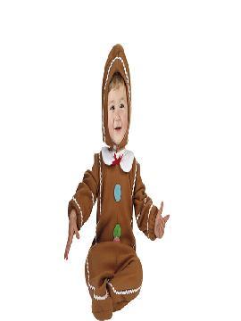 Disfraz de galleta cookie bebe. Es ideal para tus fiestas de disfraces en el cole o en la guardería. Este disfraz es ideal para tus fiestas temáticas de disfraces de navidad y cabalgatas de reyes.