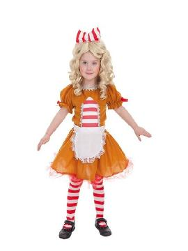 disfraz de galleta jengibre para niña