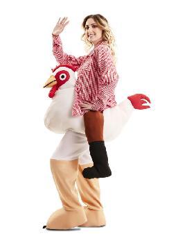 disfraz de gallina a hombros adulto
