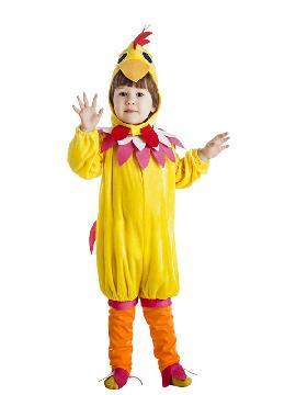 disfraz de gallina amarilla infantil. Este comodísimo traje es perfecto para carnavales, espectáculos, cumpleaños.Este disfraz es ideal para familias o tus fiestas temáticas de disfraces de animales, gallos y gallinas para niñas y niños infantiles.