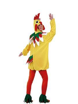 disfraz de gallina amarilla para mujer adulto. Compra tu disfraz barato adulto para tu grupo. Este traje es ideal para tus fiestas temáticas de gallos y de animales.