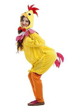 disfraz de gallina amarillo mujer