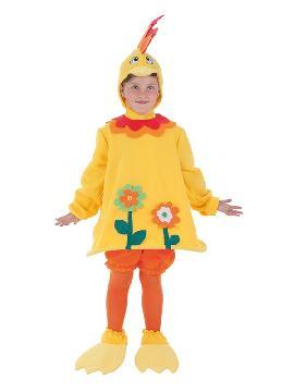 disfraz de gallina loca para niña