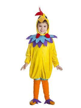 disfraz de gallo amarillo niño infantil. Compra tu disfraz barato adulto para tu grupo y para organizar cualquier fiesta de disfraces y ir todos vestido en familia. Este traje es ideal para tus fiestas temáticas de gallos y de animales.