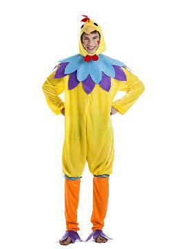 disfraz de gallo amarillo para hombre adulto. Compra tu disfraz barato adulto para tu grupo y para organizar cualquier fiesta de disfraces y ir todos vestido en familia o pareja. Este traje es ideal para tus fiestas temáticas de gallos y de animales.