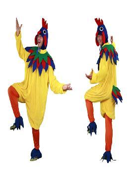 disfraz de gallo amarillo para hombre. Compra tu disfraz barato adulto para tu grupo. Este traje es ideal para tus fiestas temáticas de gallos y de animales.