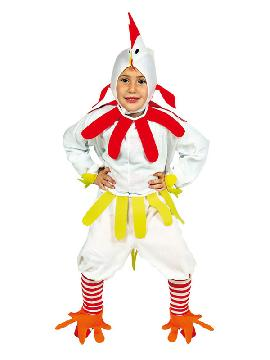 disfraz de gallo blanco niño