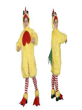 disfraz de gallo peluche deluxe niño infantil. Este comodísimo traje es perfecto para carnavales, espectáculos, cumpleaños.Este disfraz es ideal para familias o tus fiestas temáticas de disfraces de animales, gallos y gallinas para niñas y niños