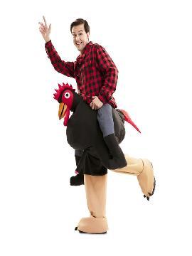 disfraz de gallo exhibicionista para adulto