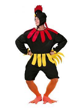 disfraz de gallo negro para hombre