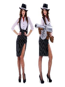 disfraz de gangster elegante para mujer
