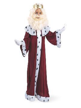 disfraz de gaspar con corona niño
