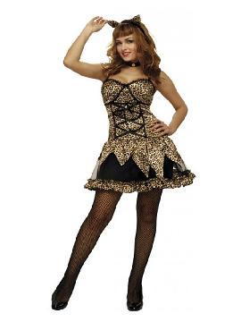 disfraz de gatita traviesa sexy mujer