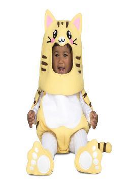 disfraz de gatito amarillo bebe