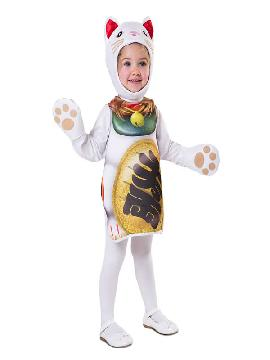 disfraz de gatito de la suerte para niños