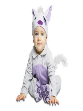 disfraz de gatito gris y malva para bebe