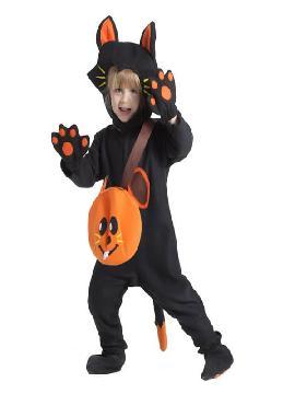 disfraz de gato con bolso para bebe