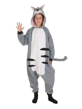 disfraz de gato gris para niños