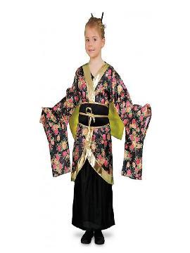 disfraz de geisha estampanda niña. Como recién llegado de japón te ofrecemos este vistoso disfraz gheisa, conviértete en una bella y tradicional dama nipona con este maravilloso disfraz oriental.Este disfraz es ideal para tus fiestas temáticas de disfraces de ninja,chinos,orientales y geishas para infantil.