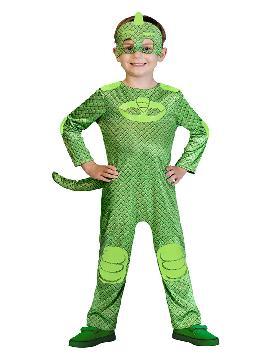 disfraz de gekko classic pj masks para niño